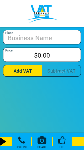 Bahamas VAT Calculator- screenshot