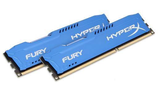 Bộ nhớ DDR3 Kingston 4GB (1600) Hyper X Fury (HX316C10F/4) (Xanh)