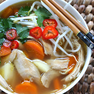 Asian-Spiced Chicken & Vegetable Soup.