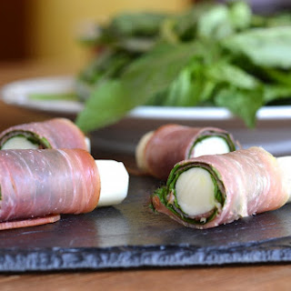 Prosciutto and Basil Wrapped Mozzarella Sticks Recipe