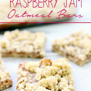 Raspberry Jam Oatmeal Bars
