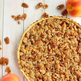 Peach Crumble Tart
