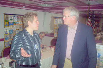 """Photo: Chris Lechmaier with Morgan Gilbreath  -    """"I thought you said  that you were going to lower my taxes?""""    - 3-11-08"""