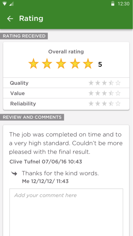 Rated People – find job leads- screenshot