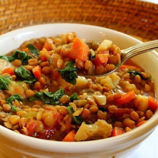 Slow Cooker Spicy Vegetable Lentil Stew.