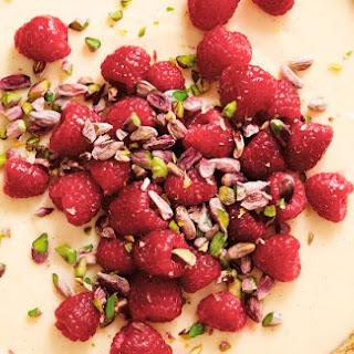 Raspberry Cream Tart With Pistachios