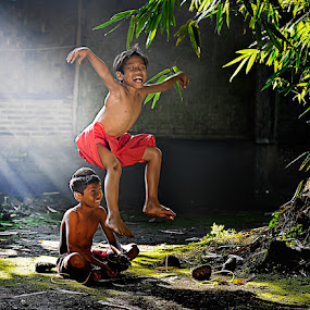 Jump by Pimpin Nagawan - Babies & Children Children Candids ( kids playing in summer, human interest )