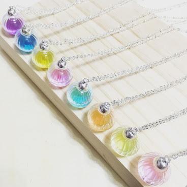 彩色水珠頸鏈
