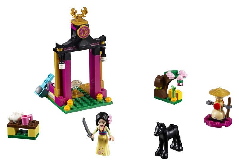 Contenido de Lego® 41151 Día de Entrenamiento de Mulan