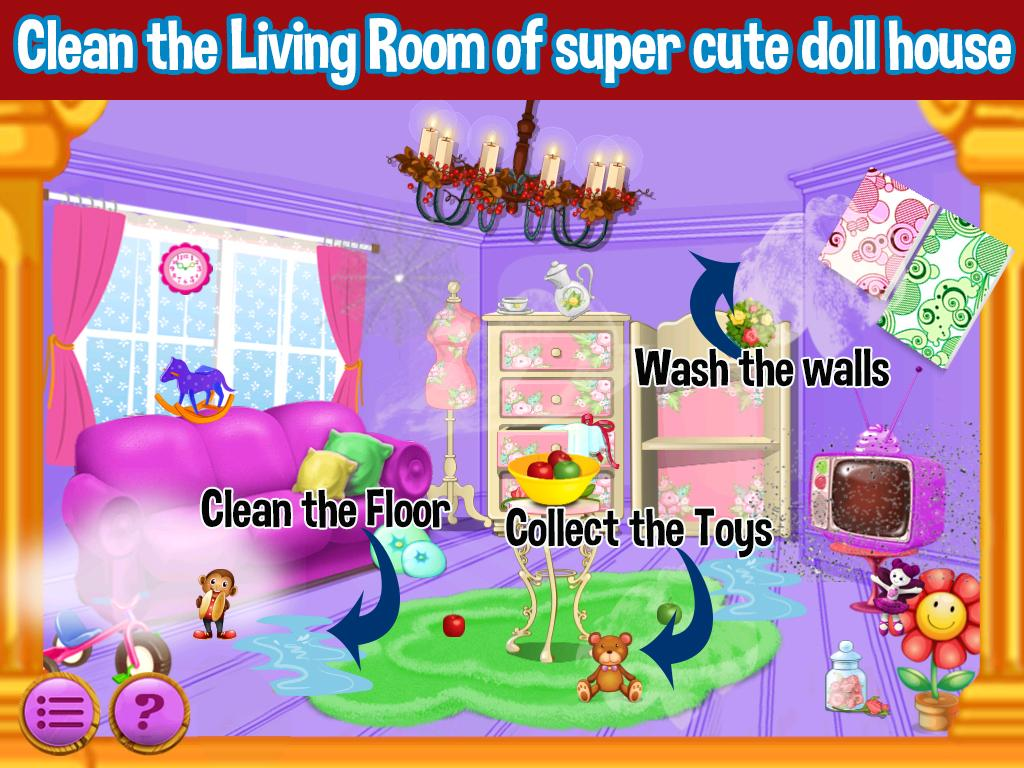 Princess Doll House Cleaning Screenshot