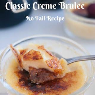 Classic Creme Brulee.