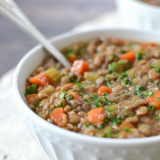 Garlic Lentil Soup Slow Cooker Recipes
