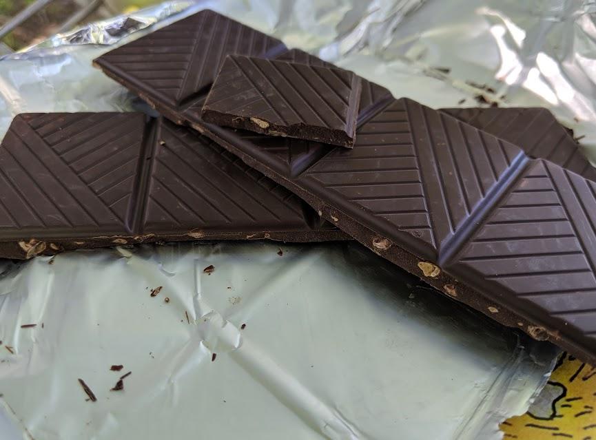 72% cocoa nibs katy bar