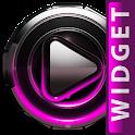 Poweramp skin widget Pink Glow icon