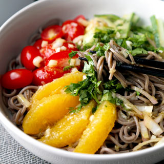 Soba Noodle Salad With Tangy Citrus Sauce