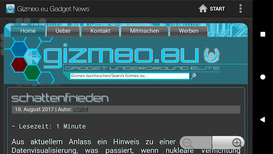 Gizmeo.eu Gadget News- screenshot thumbnail