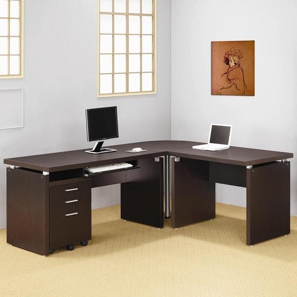 Chọn mua bàn làm việc cũ chữ L ở đâu giá tốt