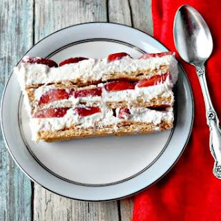 Strawberry Icebox Cheesecake.