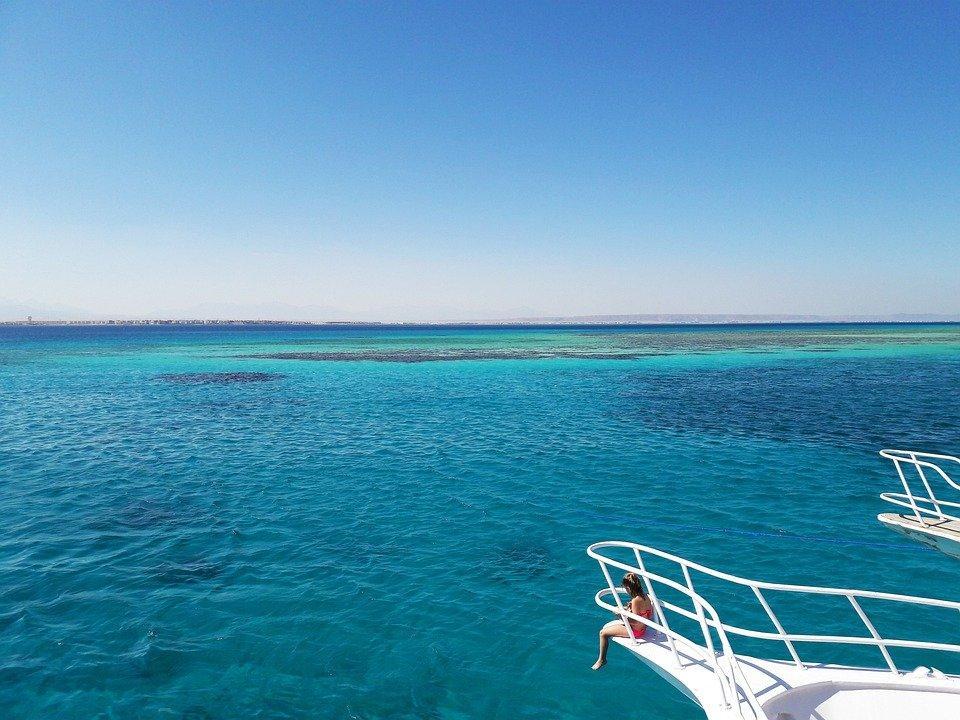 Пляж, Девочка, Отпуск, Море, Океан, Вода, Палуба, Лодка