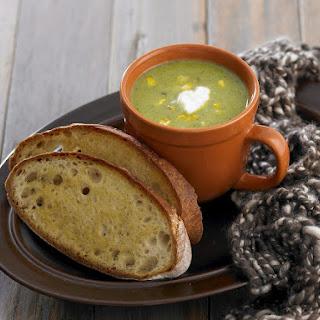 Zucchini and Corn Soup.