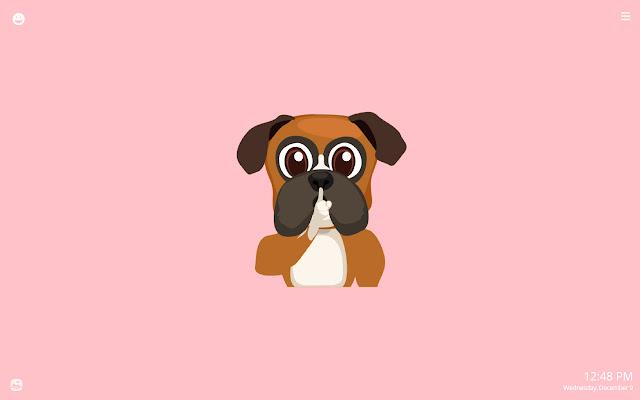 Funny Boxer Dog Emoji HD Wallpapers New Tab