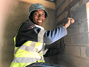 Nhlanhla Ndlovu  did a brick-laying course and improved his family home.