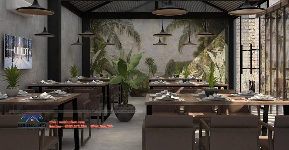 thiết kế nhà hàng dẹp, giá hợp lý 4