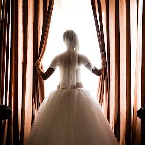 bride by Jovan Barajevac - Wedding Bride ( srbija, window, novi sad, wedding, magic moments, art, bride, wedding photo session )