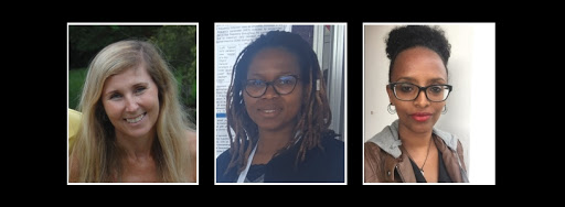 Women making their mark in space physics, from left: Dr Judy Stephenson, Dr Zama Katamzi-Joseph and Tsige Atilaw
