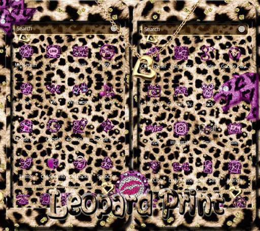 Pink Gold leopard Print Theme 1.1.5 screenshots 5