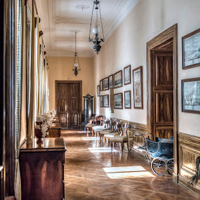 From times past.. by Martin Namesny - Buildings & Architecture Other Interior ( punch, old, corridor, lock, pictures, libochovice, furniture, manor hause, historic, aristocratic, manor, castle, noble, manor house )
