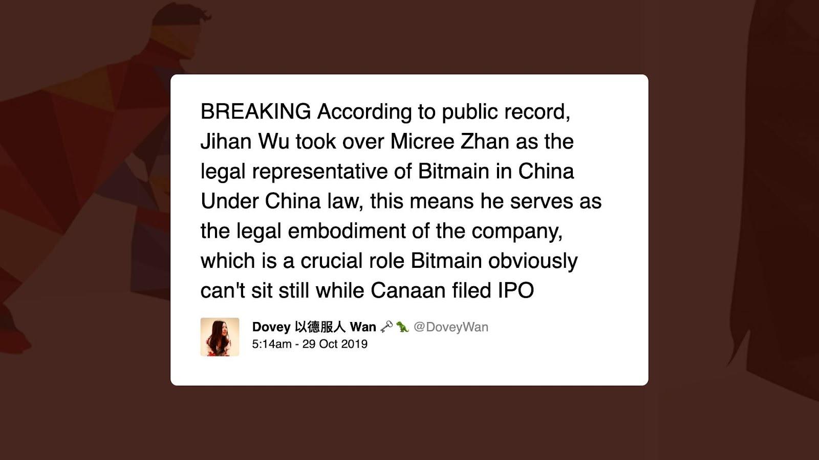 Jihan Wu Bitmain