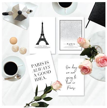 PARIS MINIPOSTERS 4 ST posters x A6