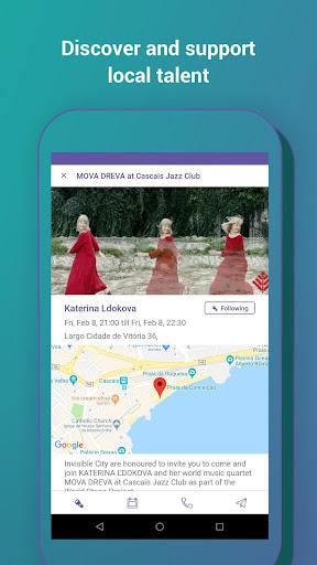 Invisible City - a minimalist cultural app screenshot