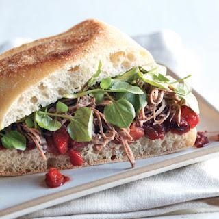 Shredded Brisket and Chutney Sandwiches