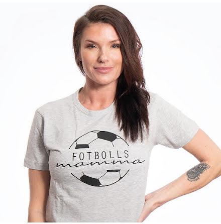 T-shirt - Fotbollsmamma - grå