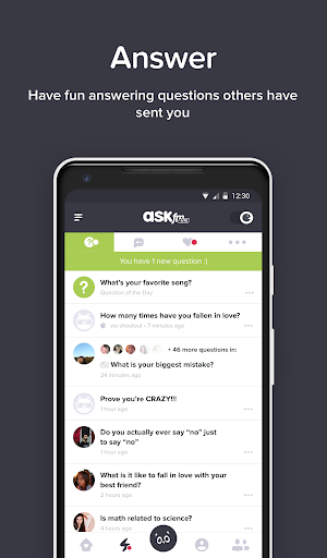 ASKfm Lite - fast & anonymous, social Q&A network 4.30l screenshots 2