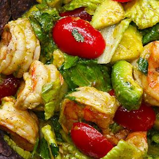 4. Shrimp And Avocado Taco Salad