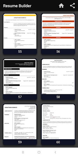 Resume builder Free CV maker templates formats app 9.3 screenshots 14