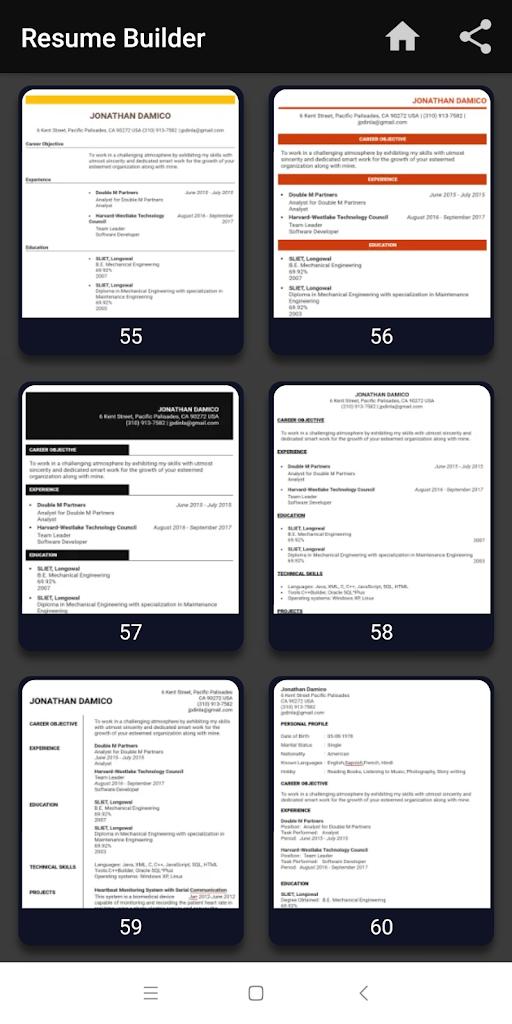 Resume Builder Free Cv Maker Templates Formats App 9 14 Apk
