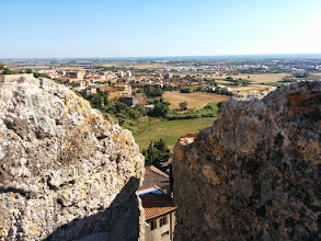 Photo: View from the stone wall of Tarquinia