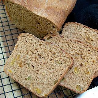 Whole Wheat Cinnamon Raisin Bread.