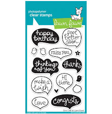 Lawn Fawn Clear Stamps 4X6 - Chit Chat