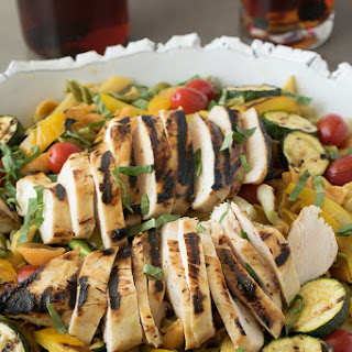 Grilled Chicken And Vegetable Pasta