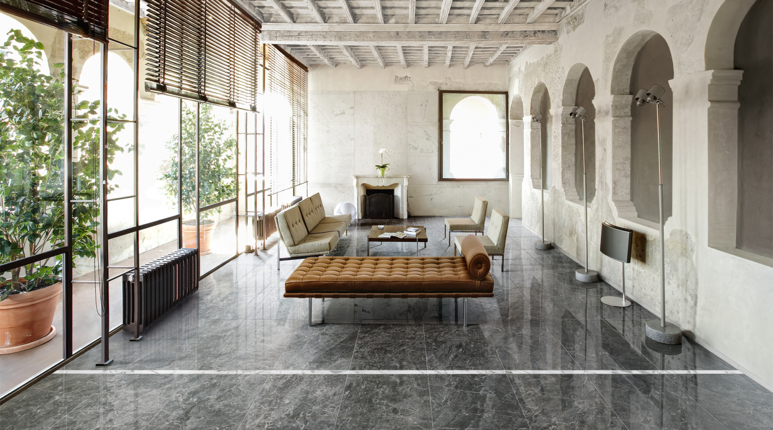 Lantai Marble pada Ruangan Rumah
