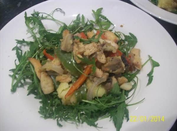 Warm Chicken Salad With Balsamic  Vinegar