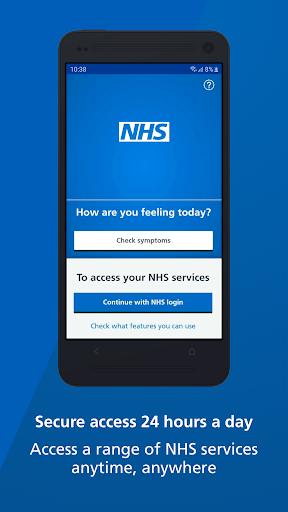 NHS App screenshot 1