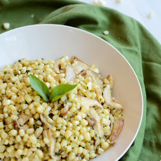 Sauteed Corn with Fresh Tarragon and Shiitake Mushrooms