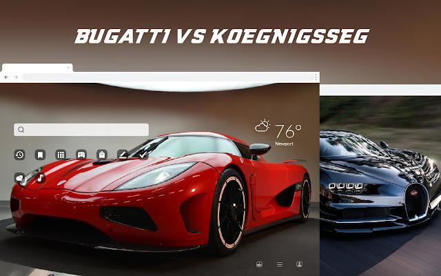 Bugatti vs Koenigsegg HD Wallpaper Theme