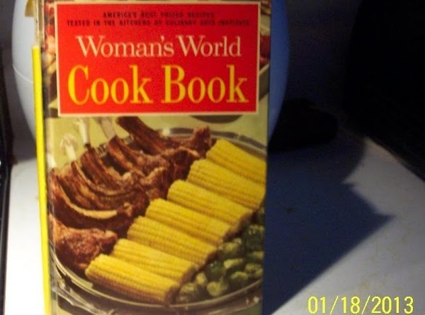 Picture of moms cookbook... passed on down to me... It holds so many wonderful memories. Nancy...1/18/13